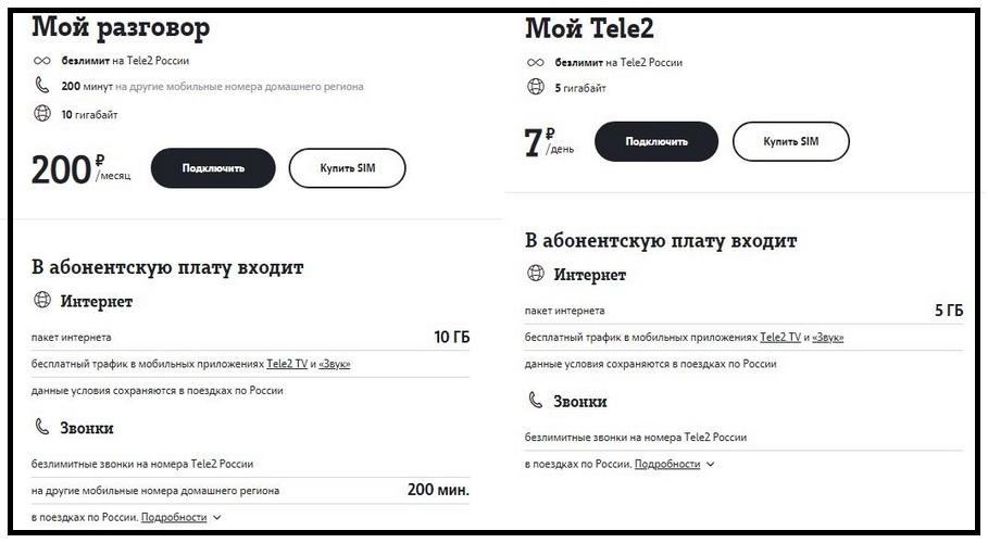 Выгодные Теле2 тарифы Новосибирск: Мой разговор и Мой Теле2