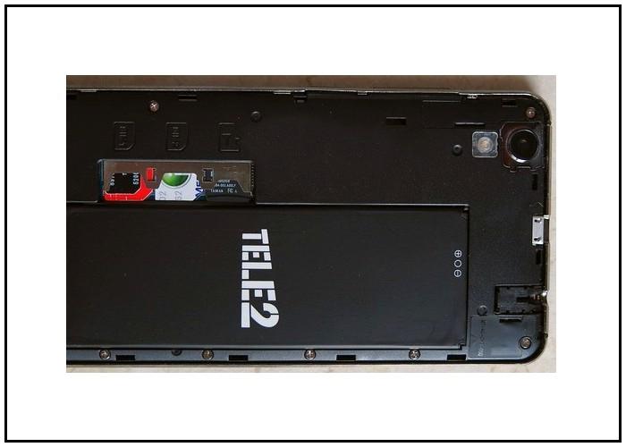 Обзор на телефон Tele2 Maxi LTE Black: аккумулятор съемный