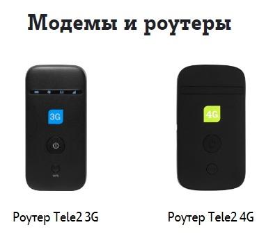 роутеры теле2 3g и 4g