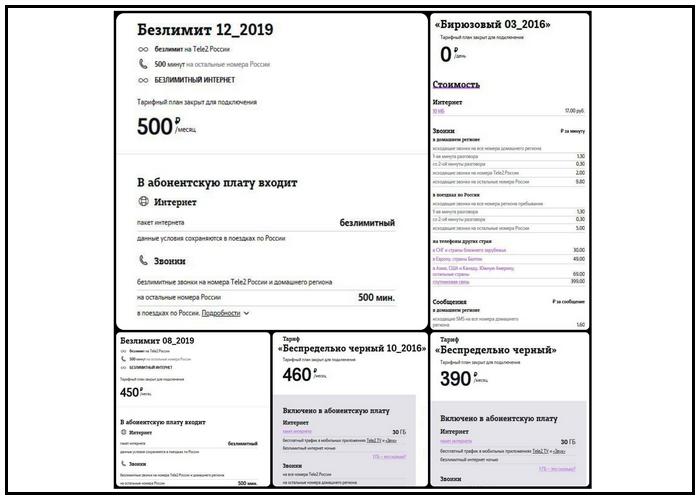 Выгодные тарифы Теле2 Омск: архивные тарифы