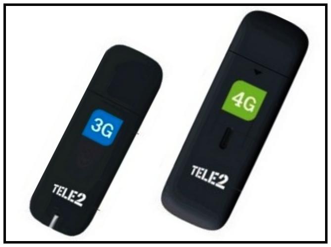 Модем Теле2 USB 4G и 3G: внешний вид устройств